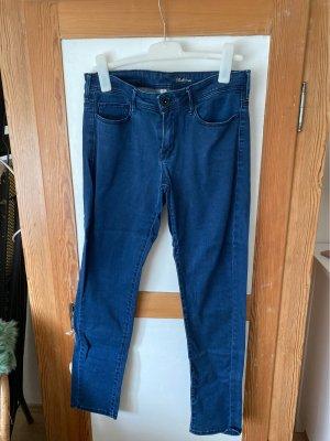 Mango Jeansy biodrówki niebieski