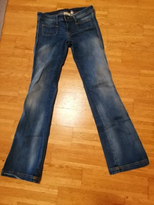Mango Jeans flare bleu