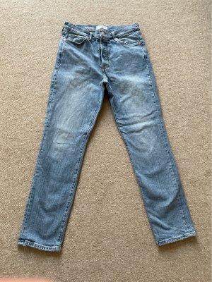 Mango Denim & Tees Jeansy z prostymi nogawkami błękitny
