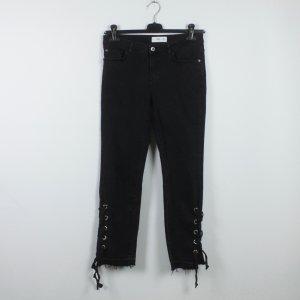 Mango Jeans large noir coton