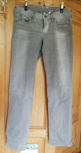 Mango Jeans Jeansy z prostymi nogawkami szary