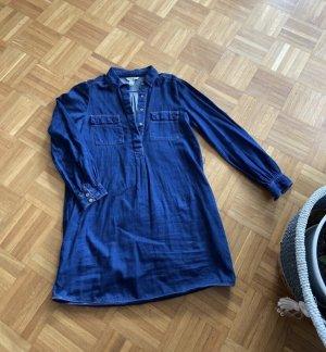 Mango Jeans Abito blusa camicia blu scuro