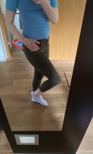 Mango Five-Pocket Trousers green grey