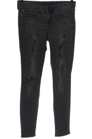 Mango Jeans Jeansy biodrówki czarny W stylu casual
