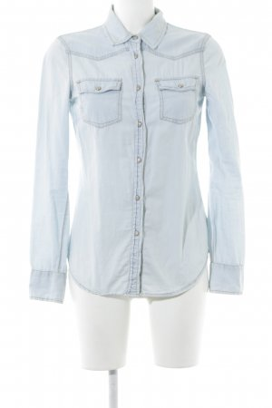 Mango Jeans Jeansbluse hellblau Jeans-Optik