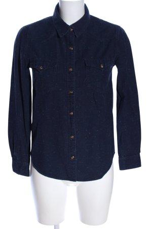 Mango Jeans Camicia denim blu puntinato stile casual