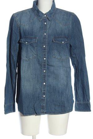 Mango Jeans Chemise en jean bleu style décontracté
