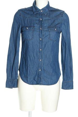 Mango Jeans Camicia denim blu stile casual