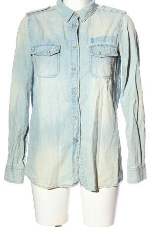 Mango Jeans Jeanshemd blau Casual-Look