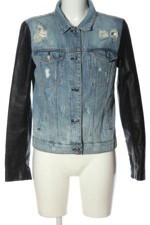 Mango Jeans Jeansjacke blau-schwarz Casual-Look