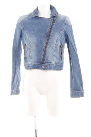 Mango Jeans Jeansjacke blau Casual-Look