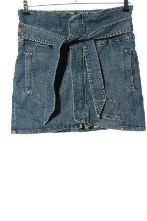 Mango Jeans Jeansrock blau Casual-Look