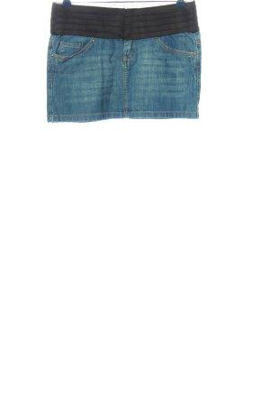 Mango Jeans Jeansrock blau-schwarz Casual-Look
