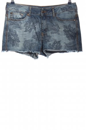 Mango Jeans Jeansshorts blau abstraktes Muster Casual-Look