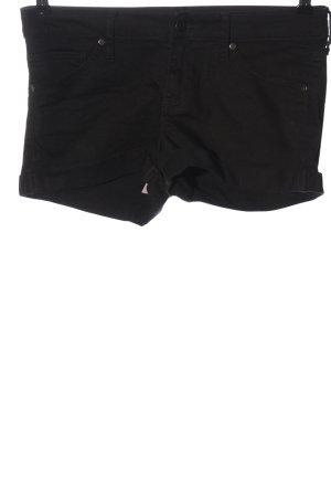 Mango Jeans Denim Shorts black casual look