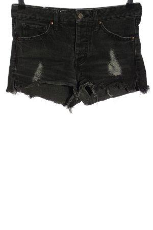 Mango Jeans Jeansshorts schwarz Casual-Look