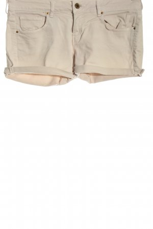 Mango Jeans Pantaloncino di jeans crema elegante