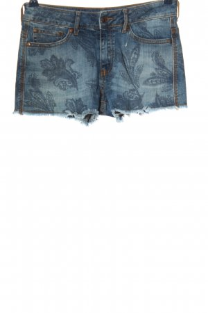 Mango Jeans Pantaloncino di jeans blu Stampa a tema stile casual