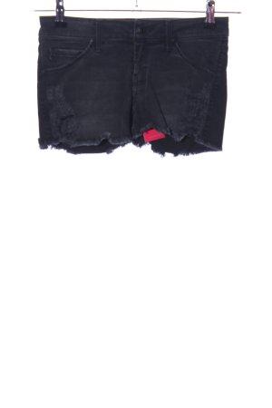 Mango Jeans Pantaloncino di jeans nero stile casual