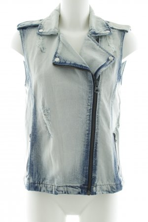 Mango Jeans Gilet en jean bleu style décontracté