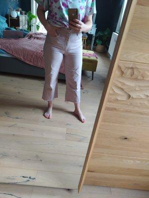 Mango Jeans Julieta Flared Leg Altrosa Pastell Rosa Denim Highwaist Mom