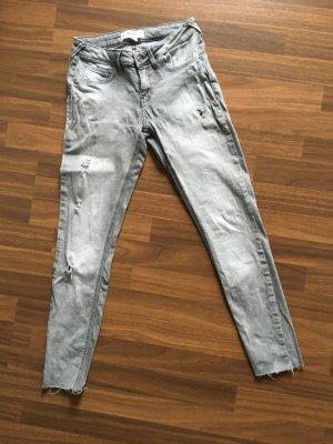 Mango Jeans skinny gris clair-gris