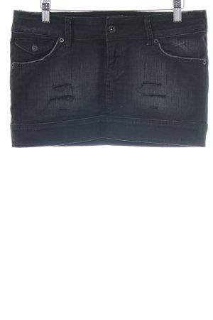 Mango Jeans Minirock hellgrau Casual-Look