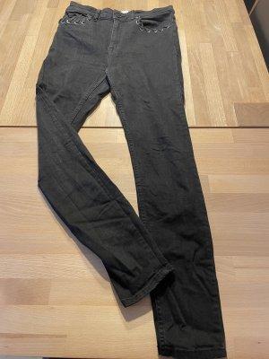 Mango Jeans mit Flechtung High Waist 40