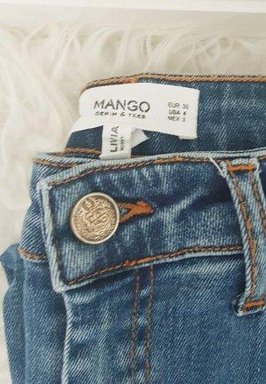 Mango Jeans skinny bleu-bleuet