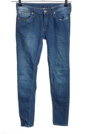 Mango Jeans Skinny Jeans blau Punktemuster Casual-Look