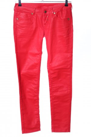 Mango Jeans Skinny Jeans rot Casual-Look