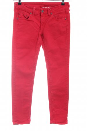 Mango Jeans Slim Jeans rot Casual-Look