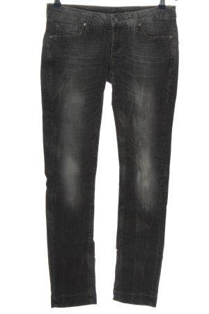 Mango Jeans Jeansy z prostymi nogawkami czarny W stylu casual