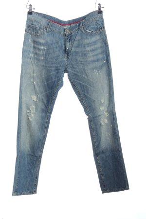 Mango Jeans Straight-Leg Jeans blau Street-Fashion-Look