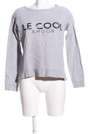 Mango Jeans Sweatshirt hellgrau-schwarz meliert Casual-Look