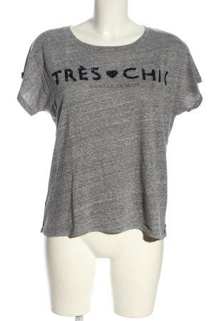 Mango Jeans T-Shirt hellgrau meliert Casual-Look