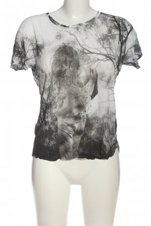 Mango Jeans T-Shirt Motivdruck Casual-Look