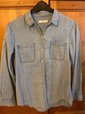 Mango Bluzka jeansowa niebieski
