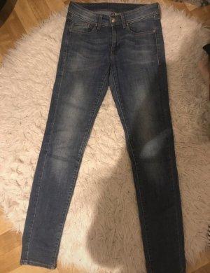 Mango Jeans Jeans cigarette bleu foncé