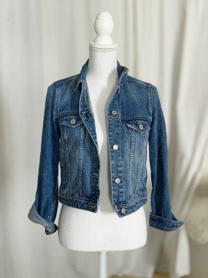 Mango Jeansowa kurtka niebieski Bawełna