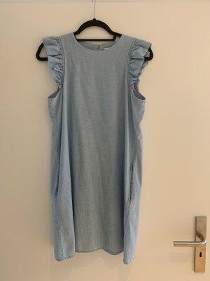 Mango Robe en jean bleu azur coton