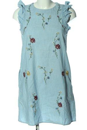 Mango Jeansowa sukienka niebieski Wzór w kwiaty W stylu casual