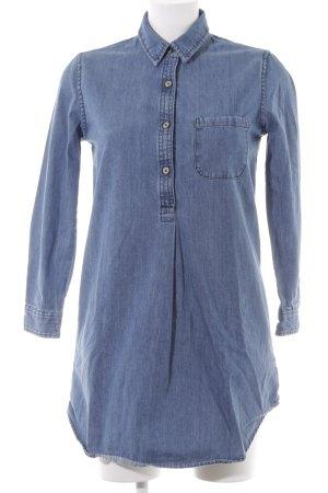 Mango Abito denim blu fiordaliso puntinato stile jeans