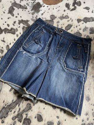 Mango Jeansowa spódnica niebieski Denim
