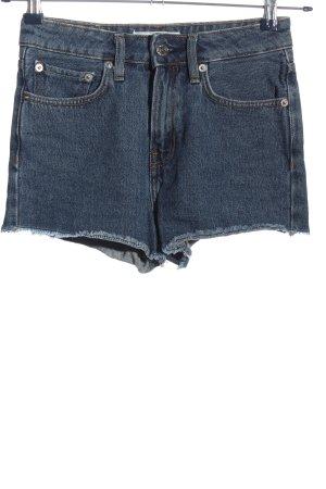 Mango Short en jean bleu moucheté style décontracté