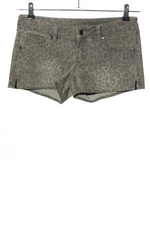 Mango Pantalón corto de tela vaquera gris claro-negro estampado de animales