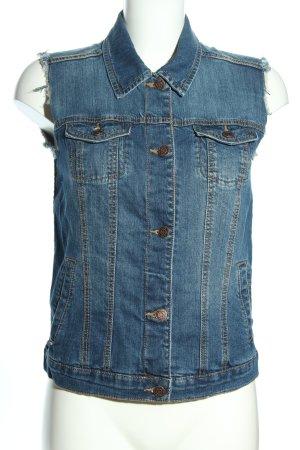 Mango Jeansweste blau Casual-Look
