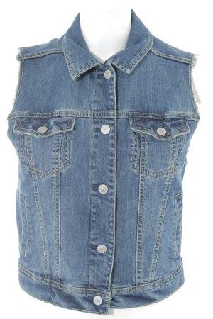 Mango Gilet en jean bleu style décontracté