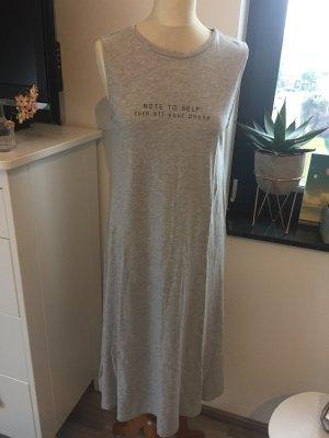 Mango Jersey Kleid, grau melange mit schwarzen wording