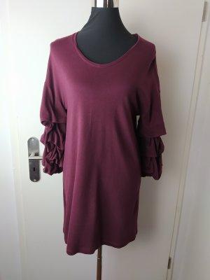 MANGO Jersey kleid Minikleid mit Volant-Ärmeln EUR S